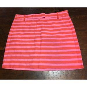 J. Crew Factory Pink & Coral Mini Skirt 4